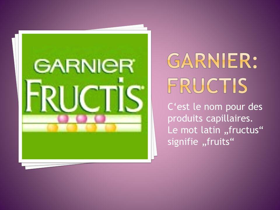 Cest le nom pour des produits capillaires. Le mot latin fructus signifie fruits