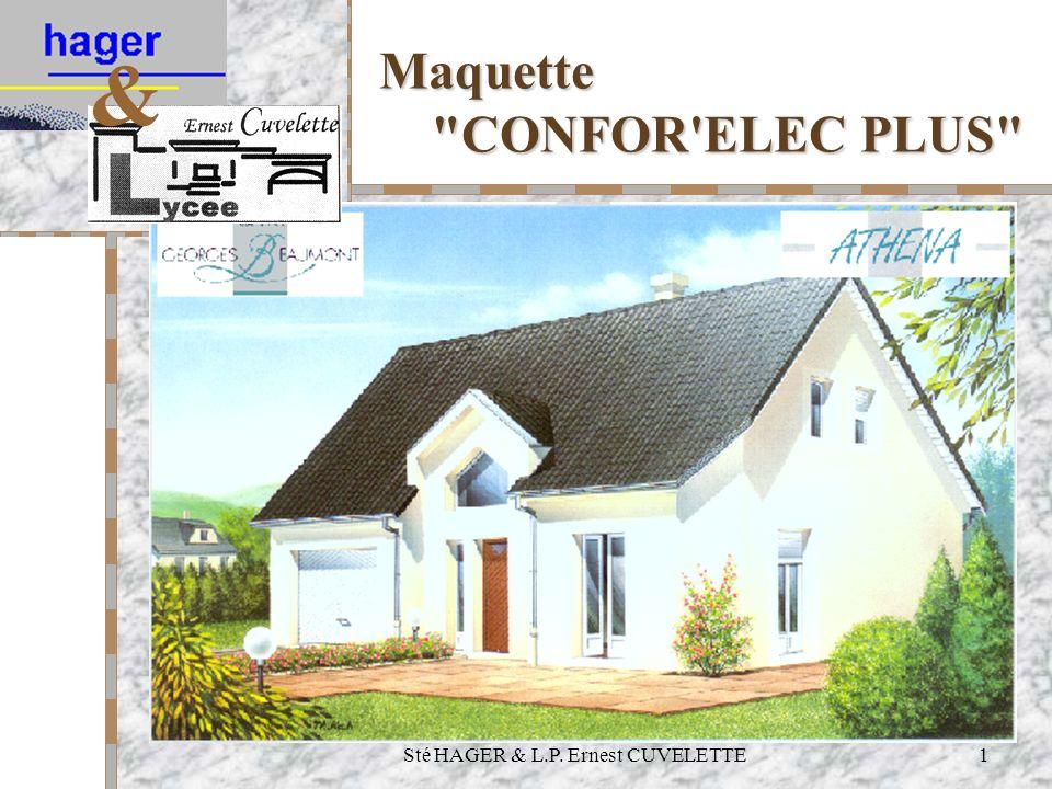Sté HAGER & L.P. Ernest CUVELETTE1 Maquette CONFOR ELEC PLUS &