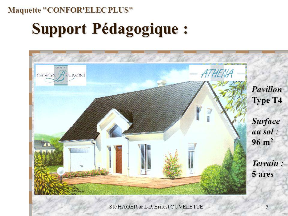 Sté HAGER & L.P. Ernest CUVELETTE5 Support Pédagogique : Maquette