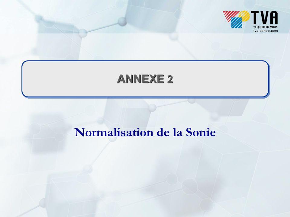 ANNEXE 2 Normalisation de la Sonie