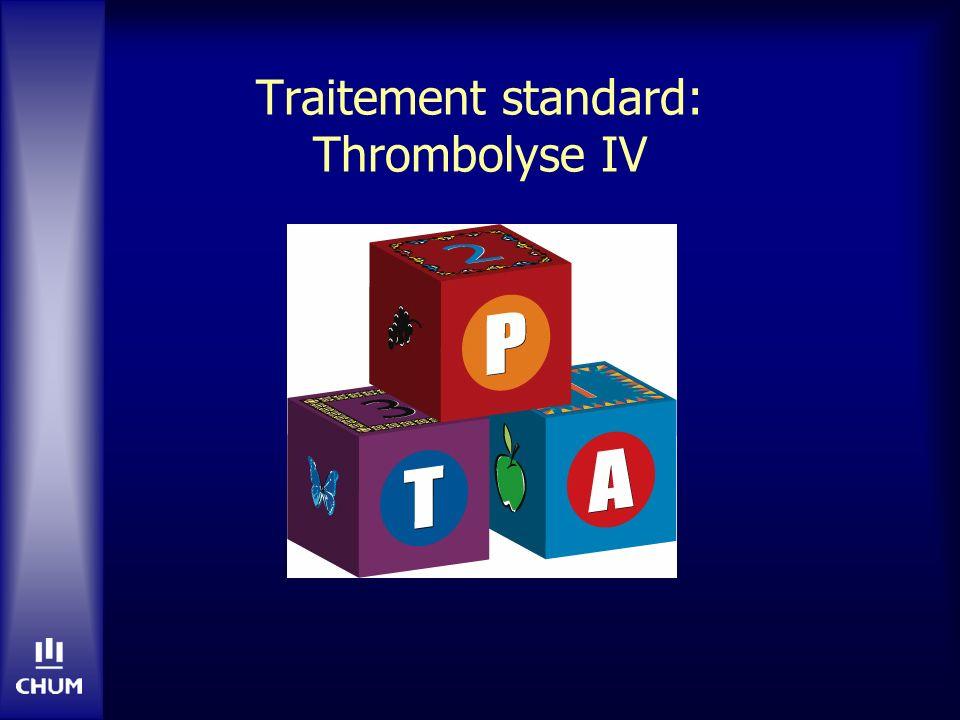AVC aigu: Thrombolyse 0-6 hrs Lancet 2012 Jun 23;379(9834):2352-63