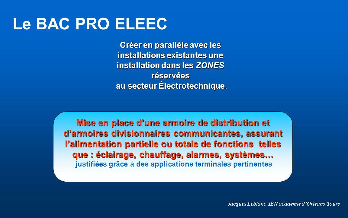 Créer en parallèle avec les installations existantes une installation dans les ZONES réservées au secteur Électrotechnique.
