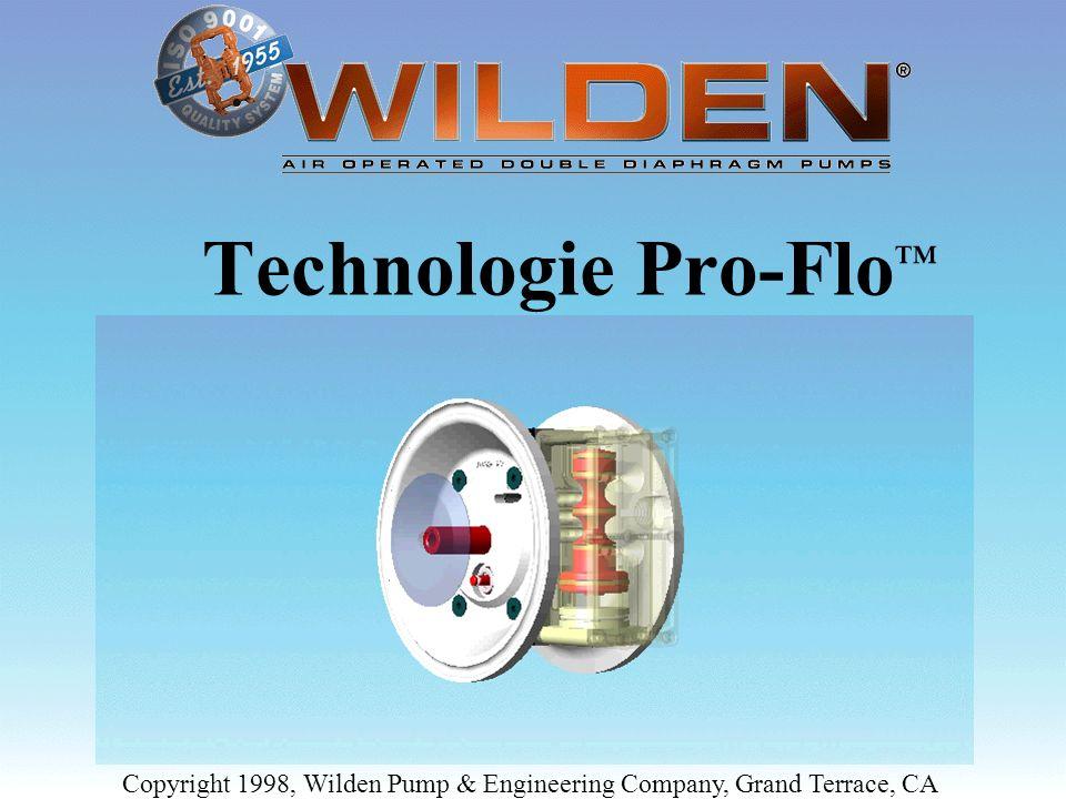 Copyright 1998, Wilden Pump & Engineering Company, Grand Terrace, CA Interaction entre le piston intérieur de la membrane, le tiroir pilote et le tiroir de distributeur pour faire cadencer la pompe