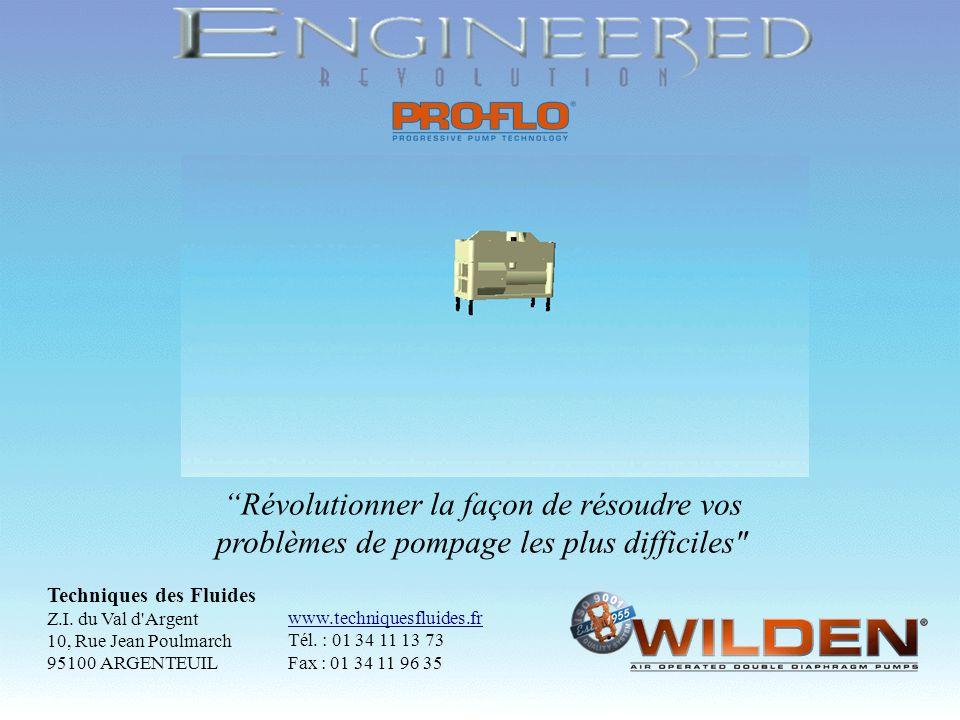 Copyright 1998, Wilden Pump & Engineering Company, Grand Terrace, CA Révolutionner la façon de résoudre vos problèmes de pompage les plus difficiles