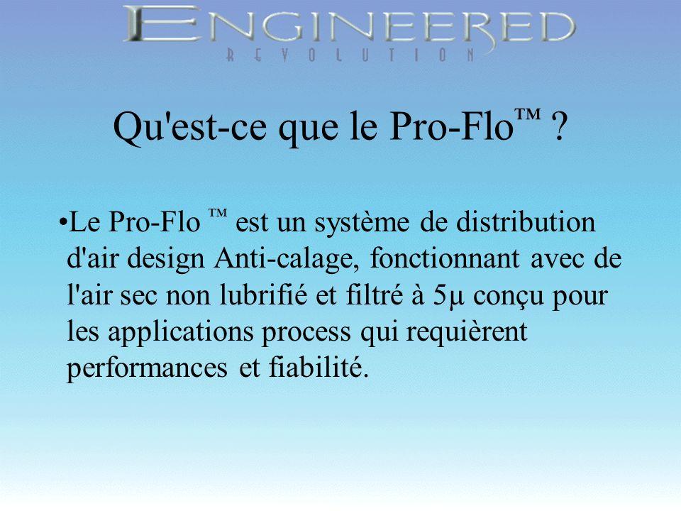 Copyright 1998, Wilden Pump & Engineering Company, Grand Terrace, CA Qu'est-ce que le Pro-Flo ? Le Pro-Flo est un système de distribution d'air design