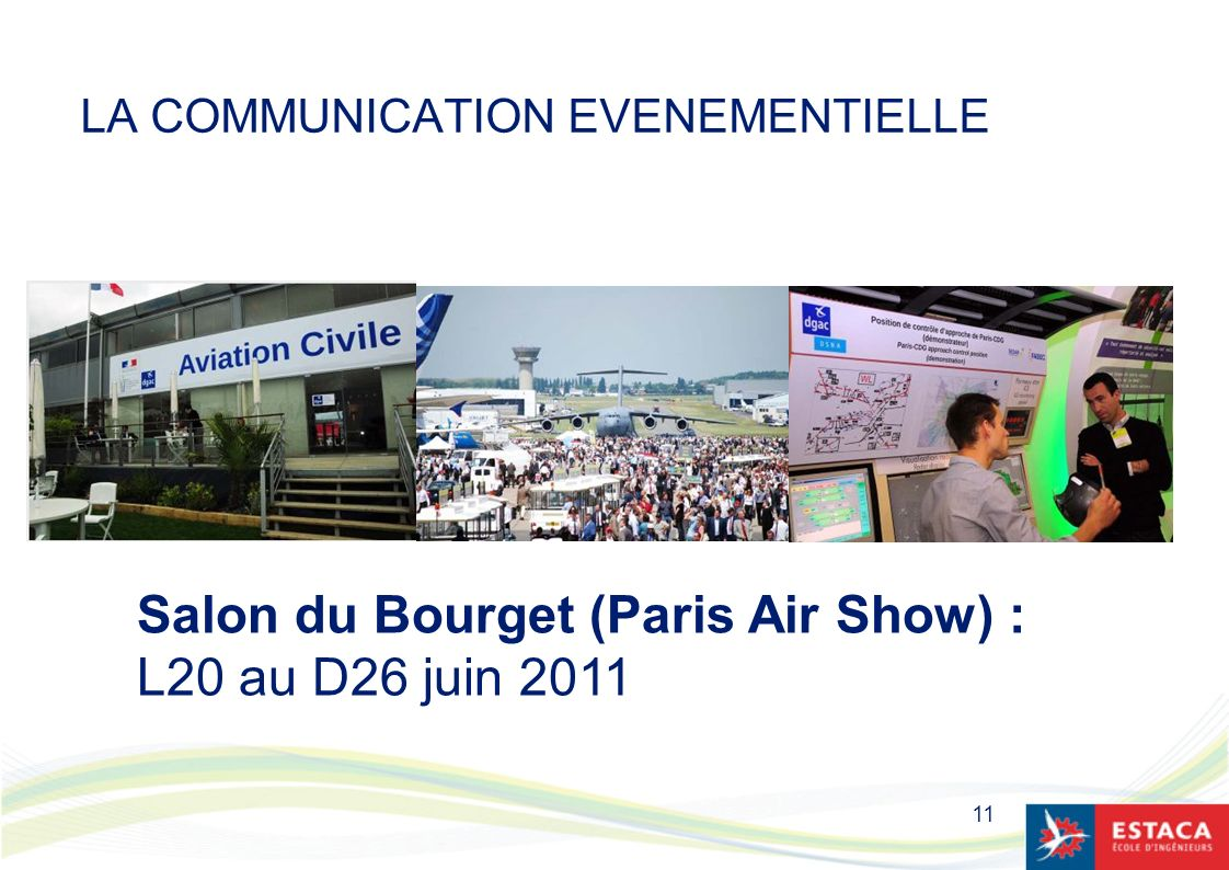 11 LA COMMUNICATION EVENEMENTIELLE Salon du Bourget (Paris Air Show) : L20 au D26 juin 2011