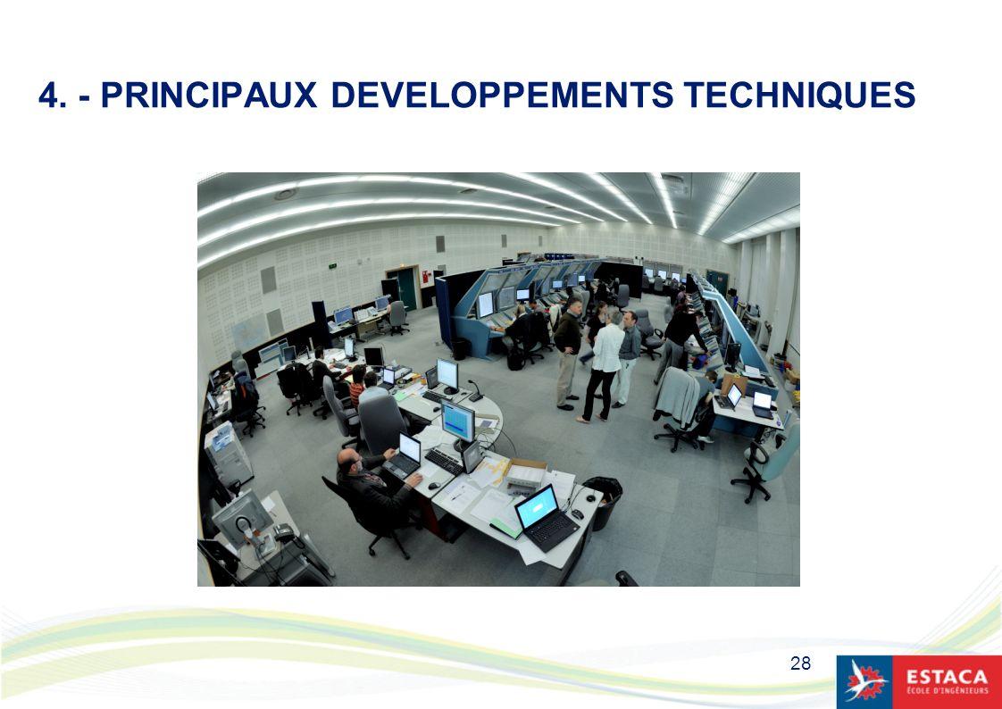 28 4. - PRINCIPAUX DEVELOPPEMENTS TECHNIQUES