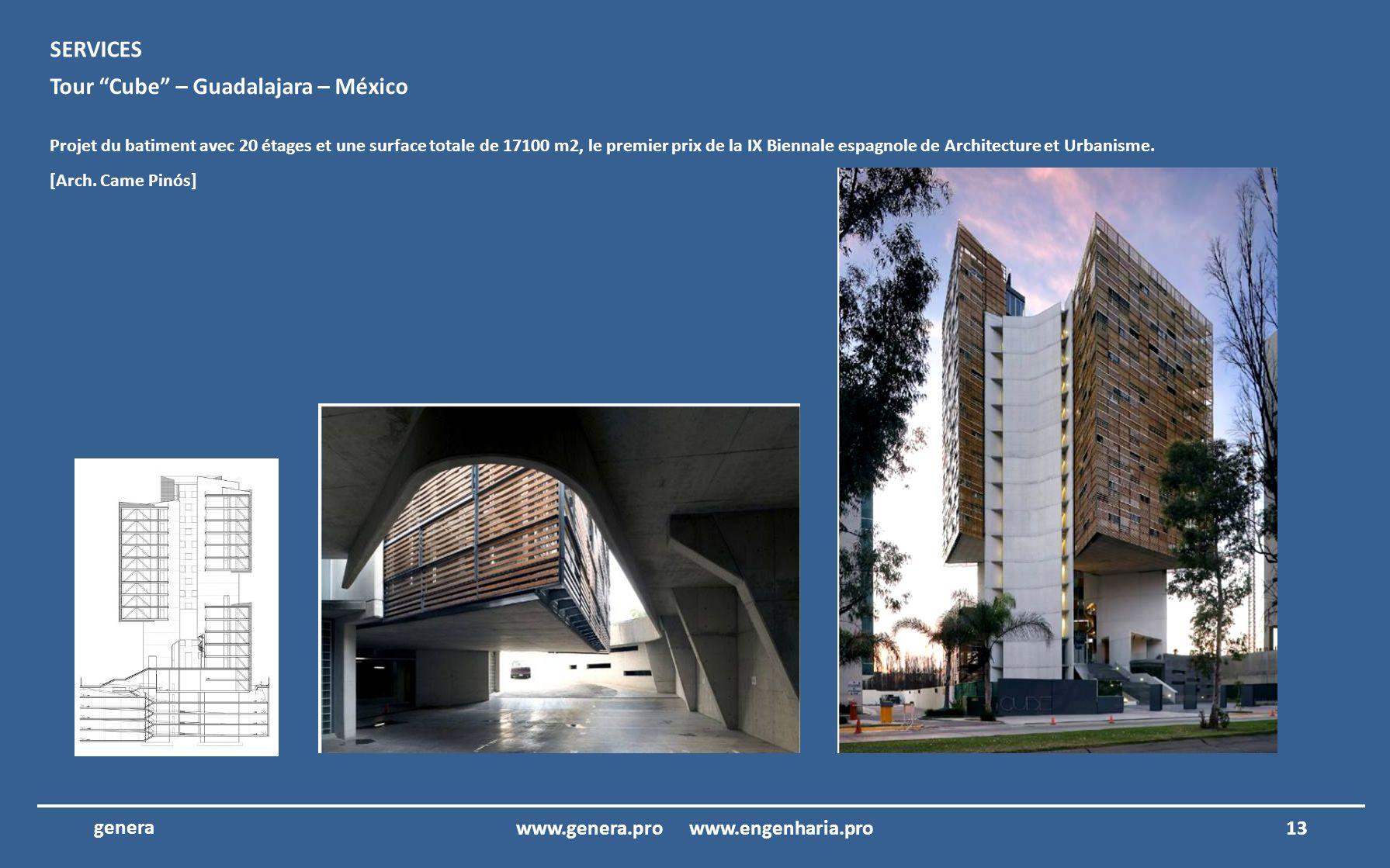 12www.genera.pro www.engenharia.pro genera Édifice TIM - Rio de Janeiro – Brésil Projet executif du Batiment TIM à Rio de Janeiro, Brésil.