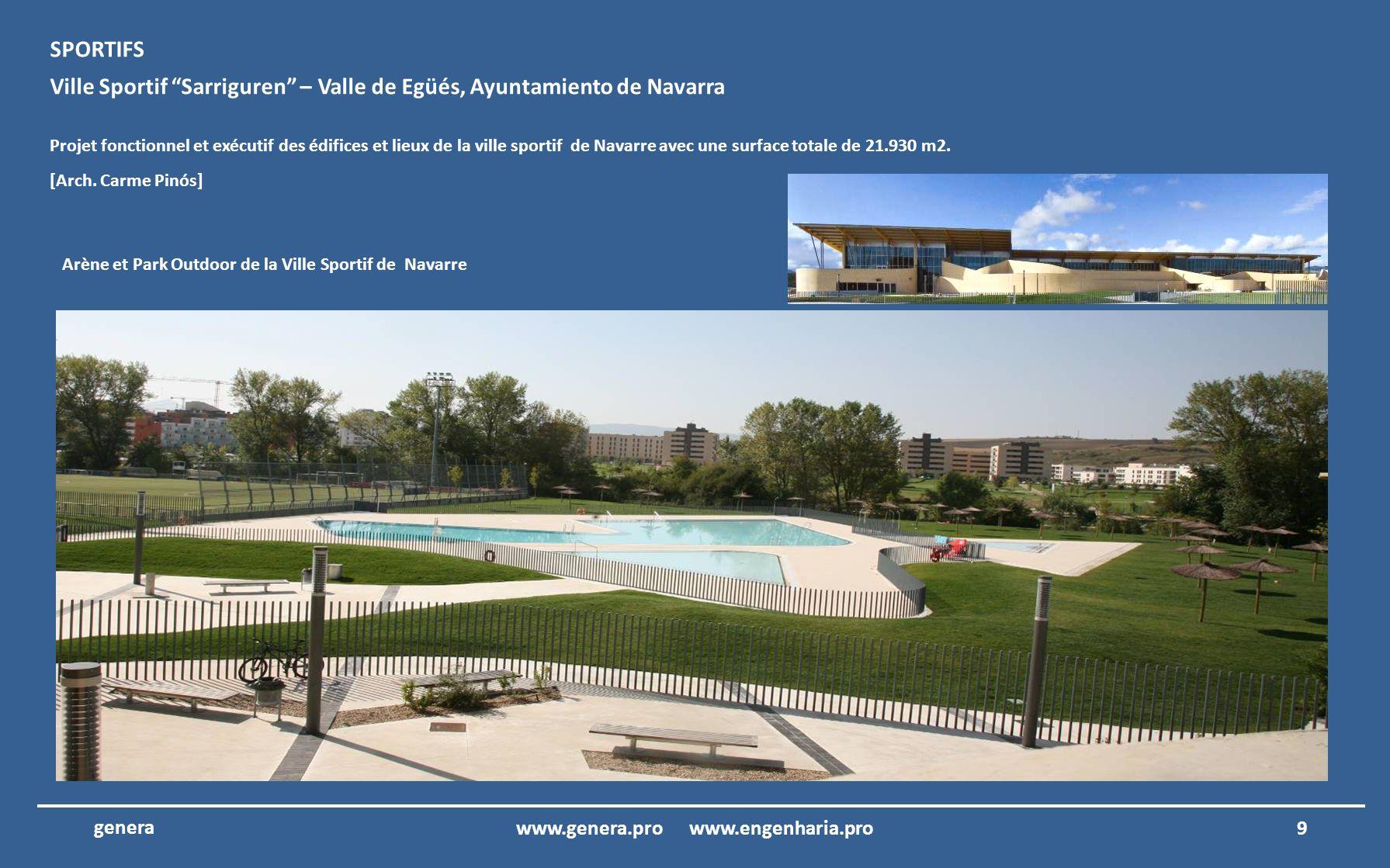 Nous présentons ensuite le portefeuille des projets de architecture et ingénierie de Genera 8www.genera.pro www.engenharia.pro genera