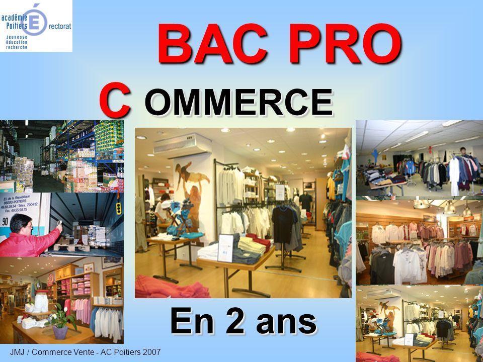 JMJ / Commerce Vente - AC Poitiers 2007 2 Bac Pro Commerce Vers Vers quel secteur dactivités .