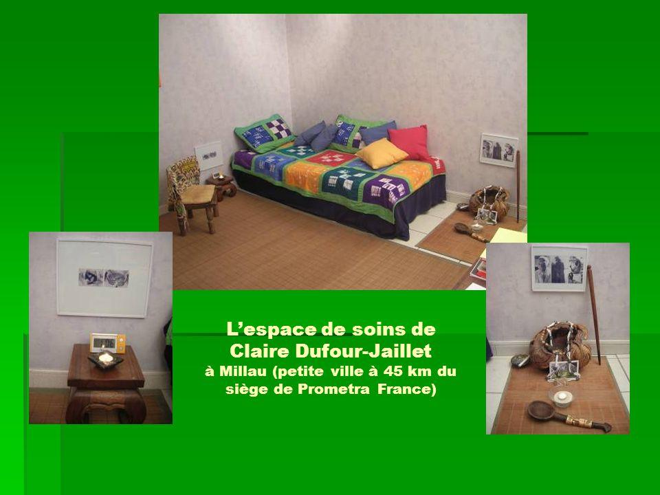 Lespace de soins de Claire Dufour-Jaillet à Millau (petite ville à 45 km du siège de Prometra France)