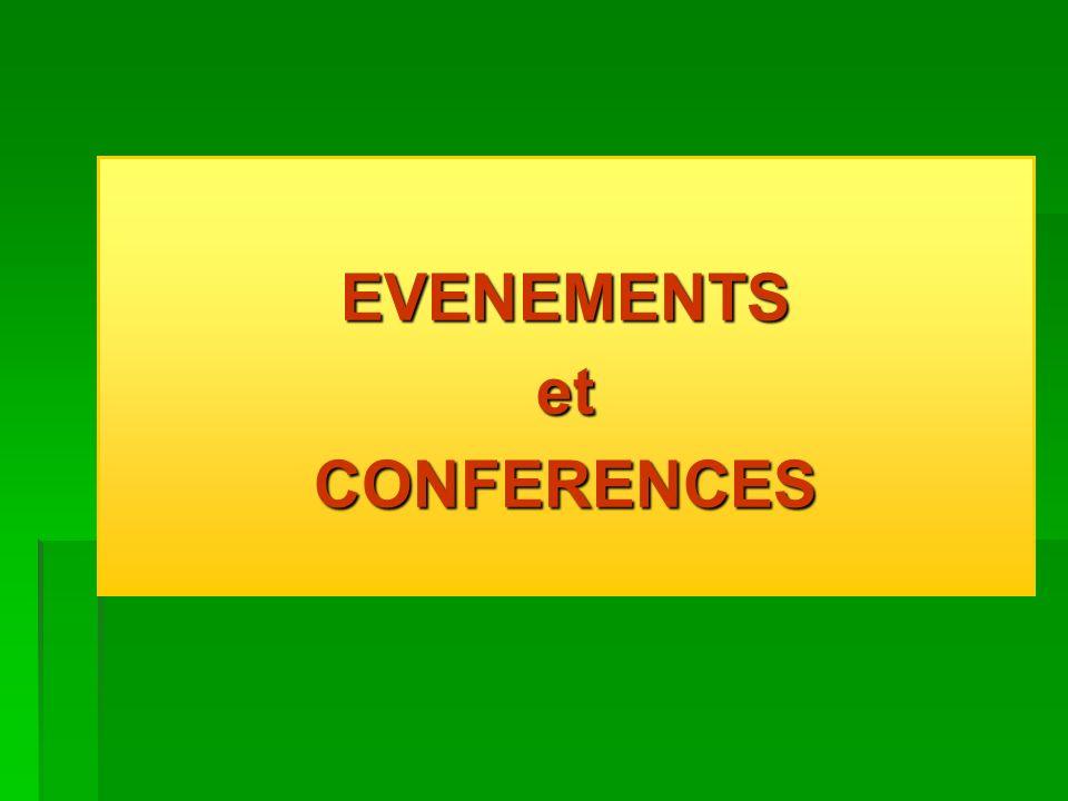 EVENEMENTSetCONFERENCES