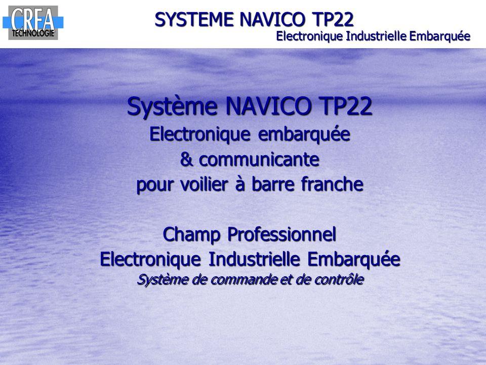 Alimentation SYSTEME NAVICO TP22 Electronique Industrielle Embarquée Diagnostic dune panne système : - Fourniture dun réplicateur de bus défectueux (coupure 1 voie bus CAN) Alimentation