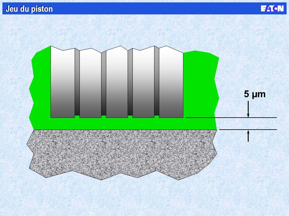 5 µm Jeu du piston