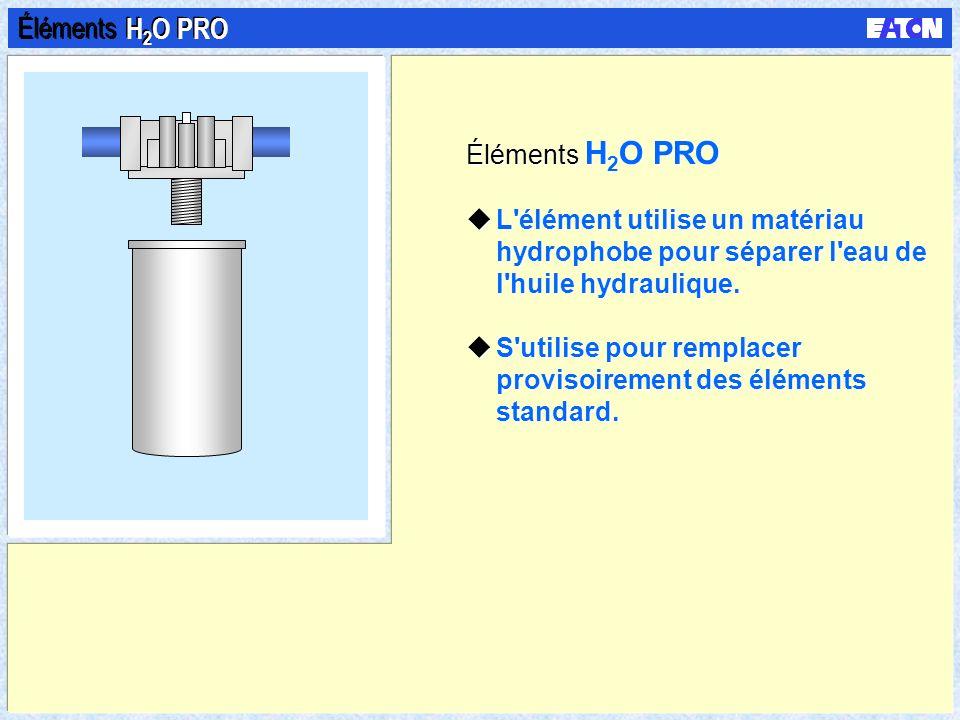 Éléments Eco-Pak uUtilisent un tube central métallique perforé. uLe tube central est doté d'un filtre ou peut être équipé d'un filtre existant. uLes é