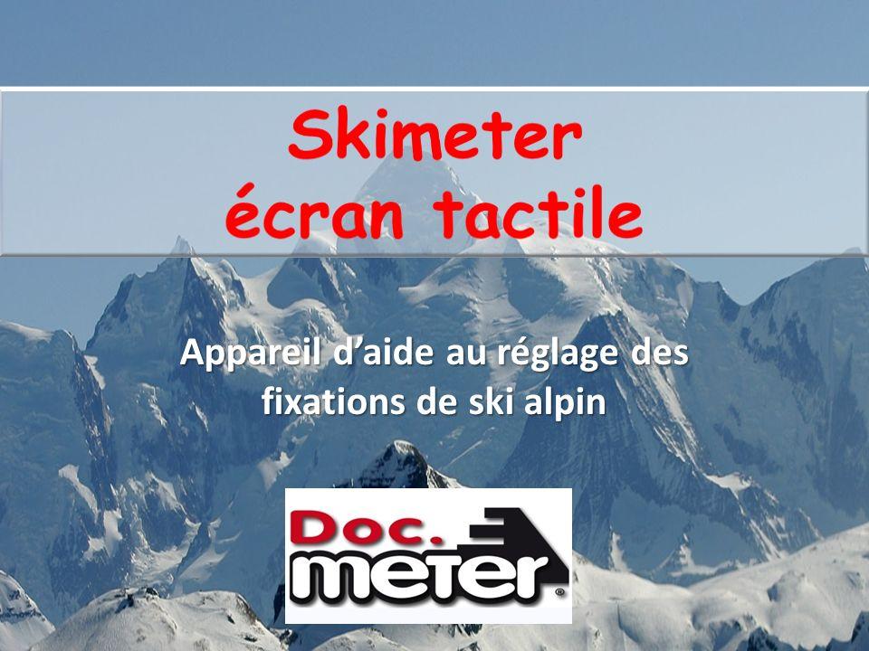 Skimeter à écran tactile Appareil daide au réglage des fixations de ski alpin