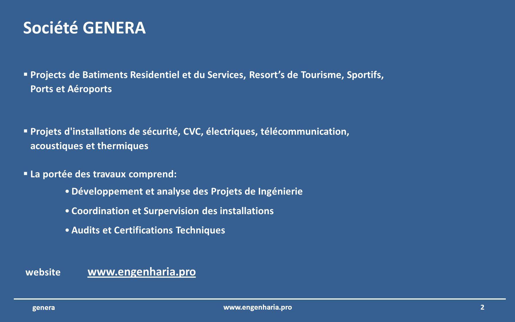 12www.engenharia.pro genera Metro du Porto – Porto – Portugal Coordination et la supervision des projets d ingénierie d Batiments des opérations et du contrôle du Métro du Porto.