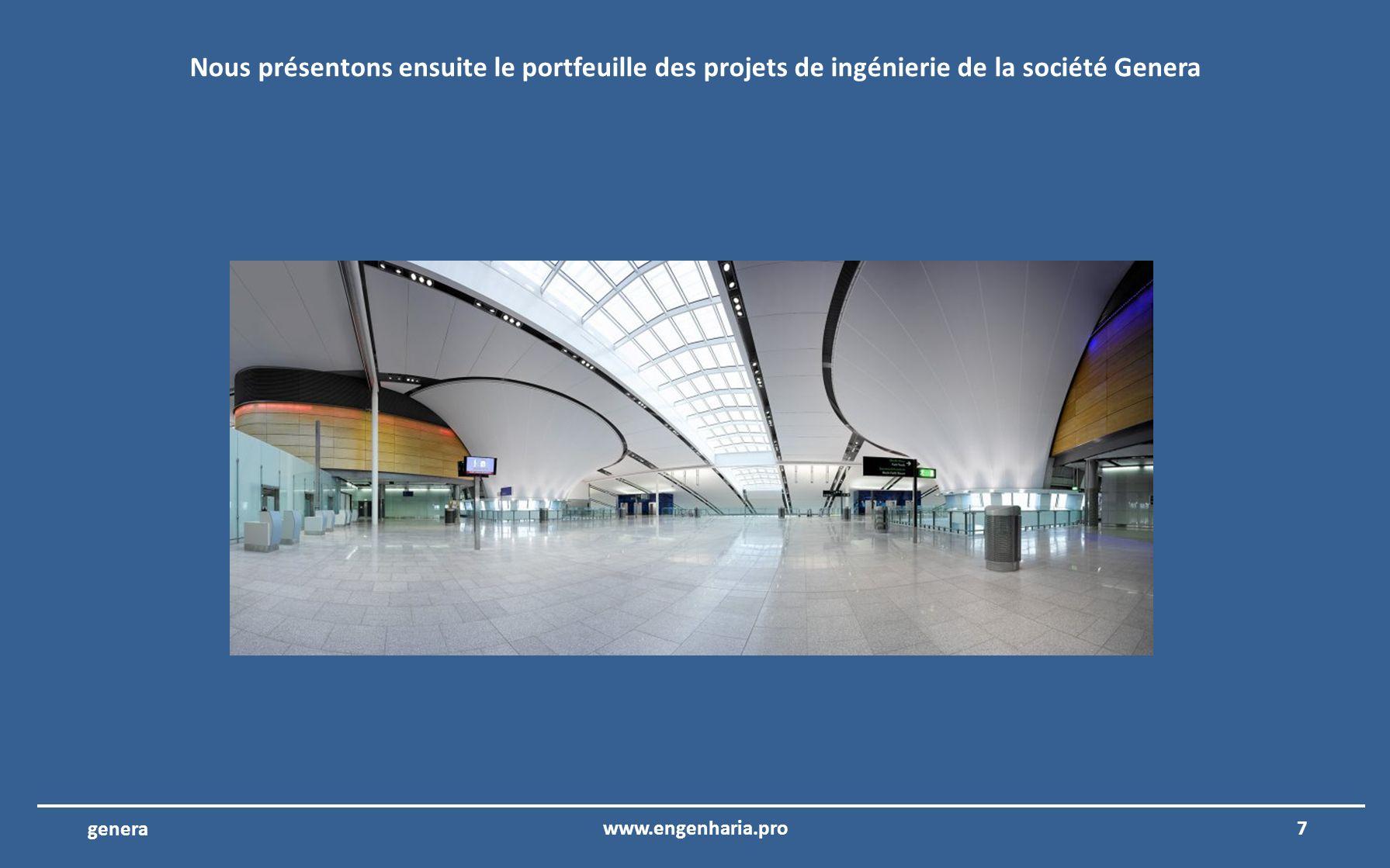 Projets des Batiments Residentiels, Services, Tourisme et Sportifs: Centre de logistique Garland, Maia - Portugal; Centre d'affaires Sonils-Sonangol,