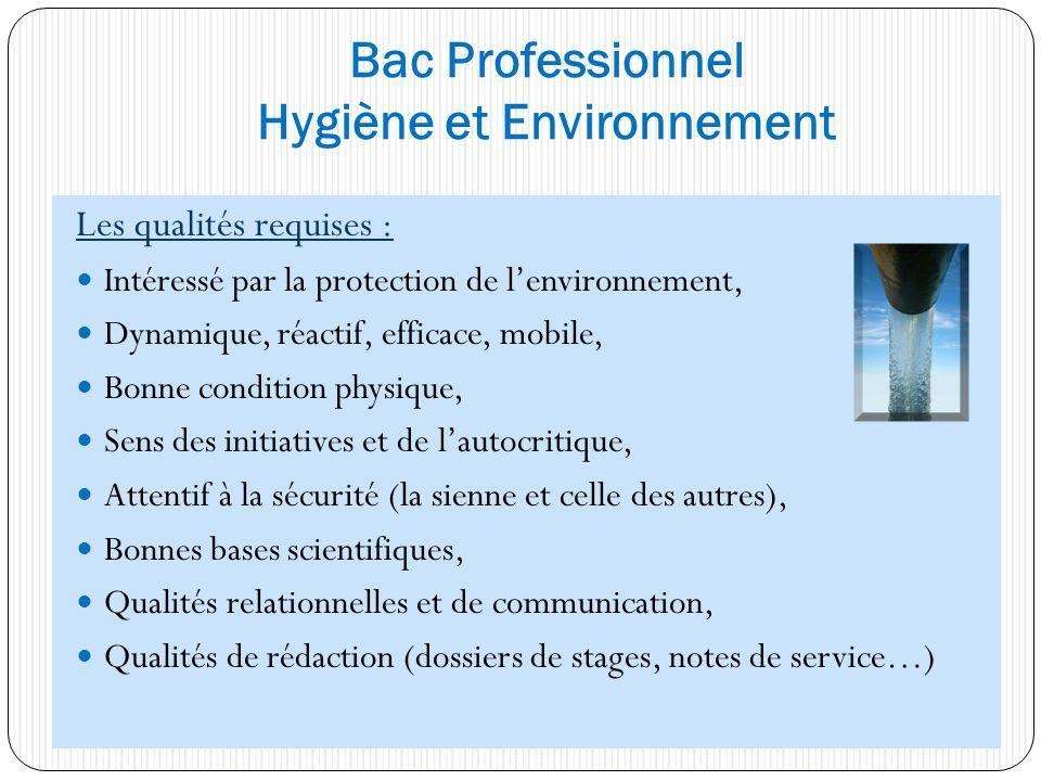 Les qualités requises : Intéressé par la protection de lenvironnement, Dynamique, réactif, efficace, mobile, Bonne condition physique, Sens des initia