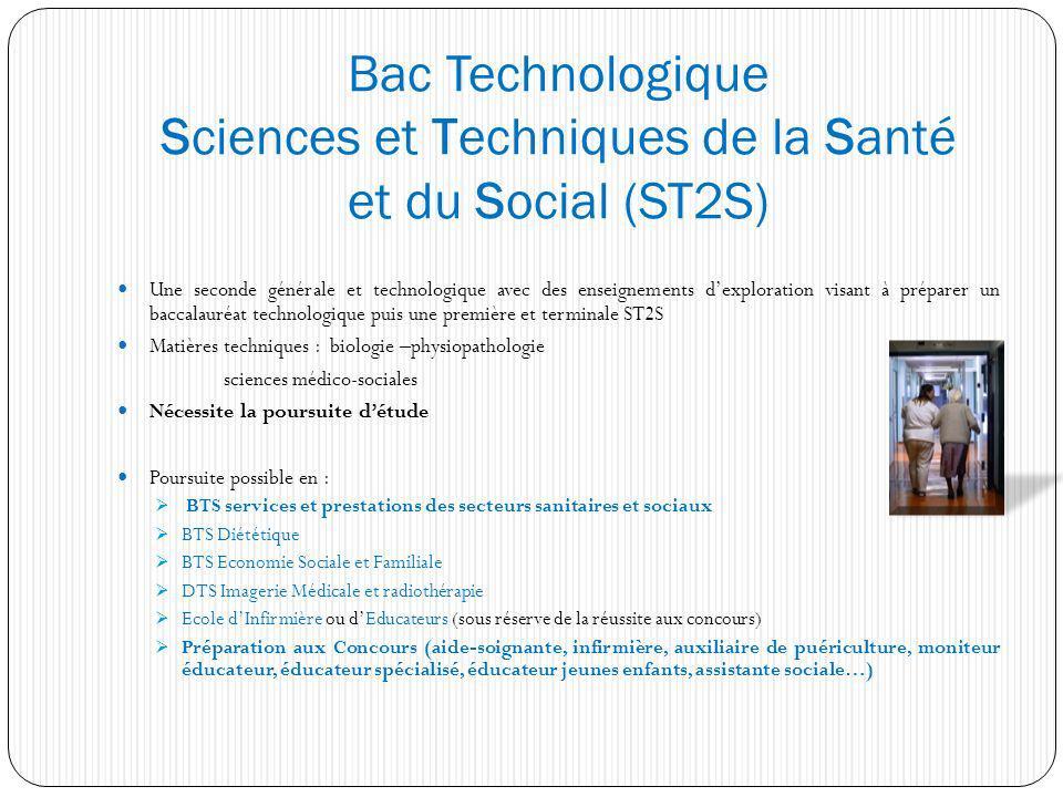 Bac Technologique Sciences et Techniques de la Santé et du Social (ST2S) Une seconde générale et technologique avec des enseignements dexploration vis