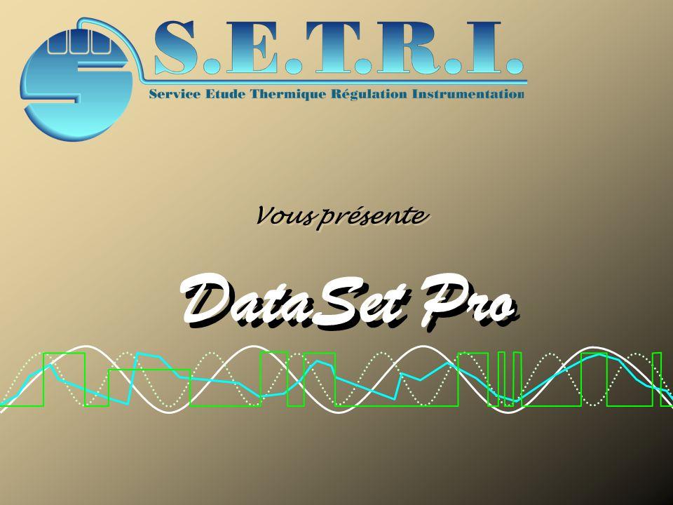 Configuration Modules externes Procès Verbaux Evénements Supervision DataSet Pro Configuration