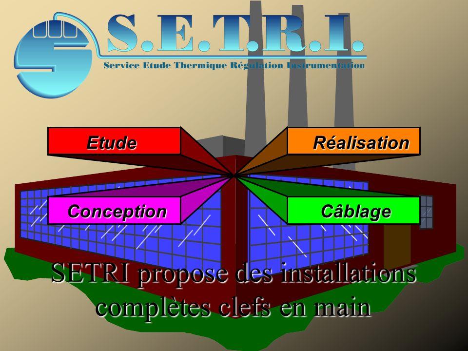 EtudeRéalisation ConceptionCâblage SETRI propose des installations complètes clefs en main SETRI