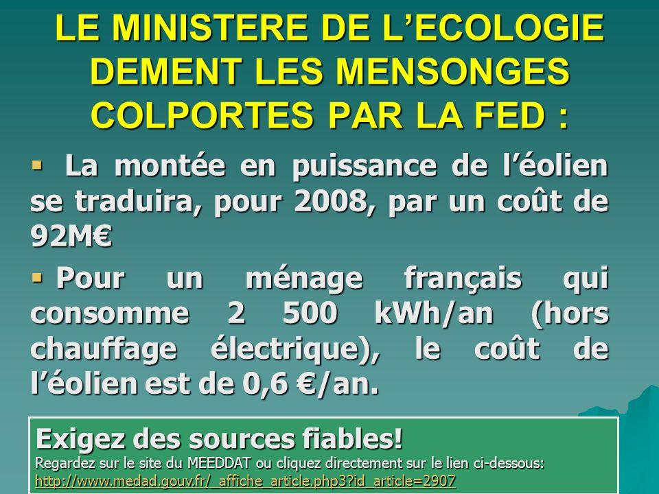 La montée en puissance de léolien se traduira, pour 2008, par un coût de 92M La montée en puissance de léolien se traduira, pour 2008, par un coût de