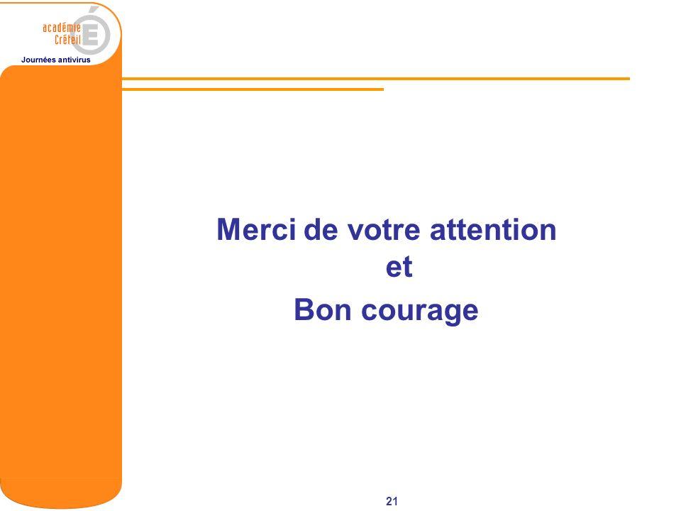 21 Merci de votre attention et Bon courage