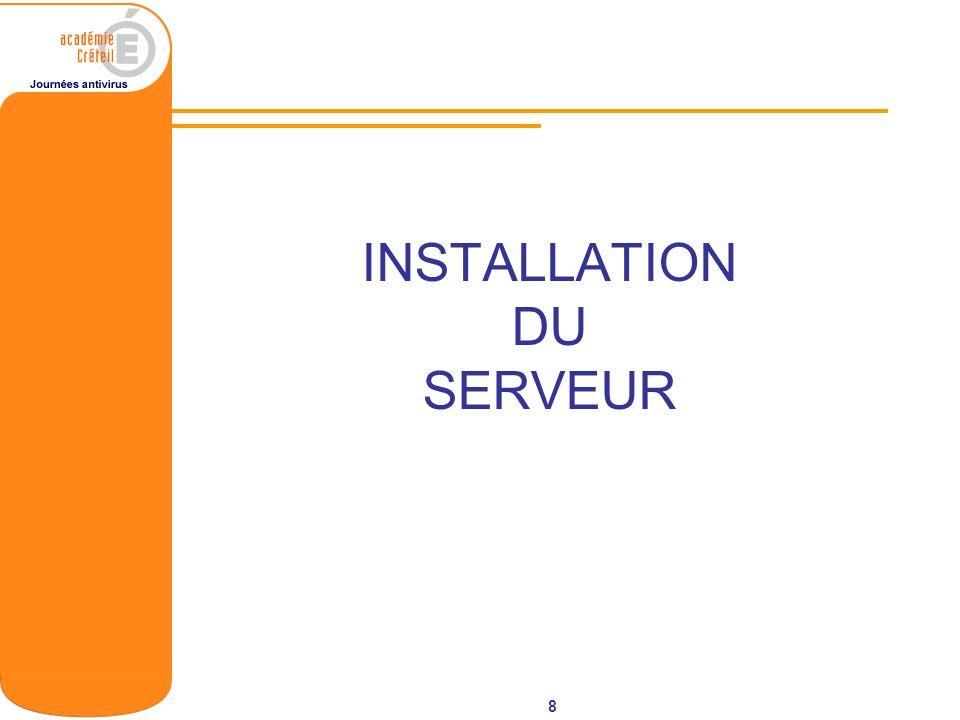19 Outils clients Client packager Outil permettant de réaliser des programme dinstallation du client officescan sous forme de fichier exécutable ou de fichier MSI.
