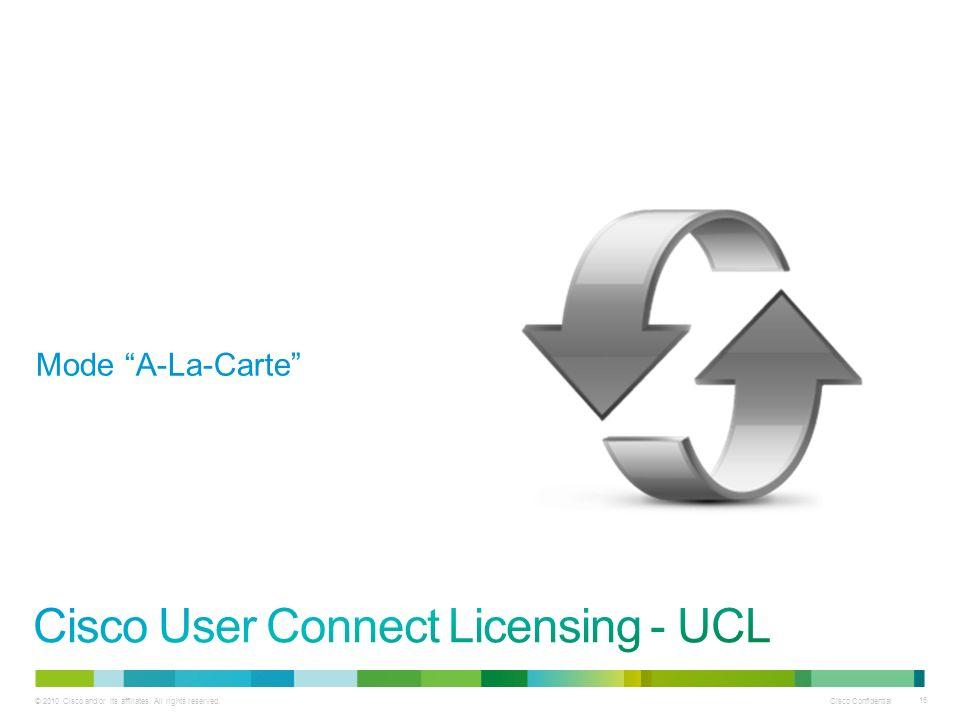 Cisco Confidential 16 Mode A-La-Carte