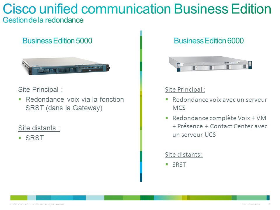 Cisco Confidential 30 © 2010 Cisco and/or its affiliates.