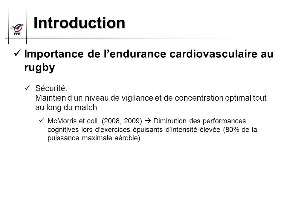 Préparation Physique Arbitres Top 14 – Pro D2 Introduction Importance de lendurance cardiovasculaire au rugby Sécurité: Maintien dun niveau de vigilan