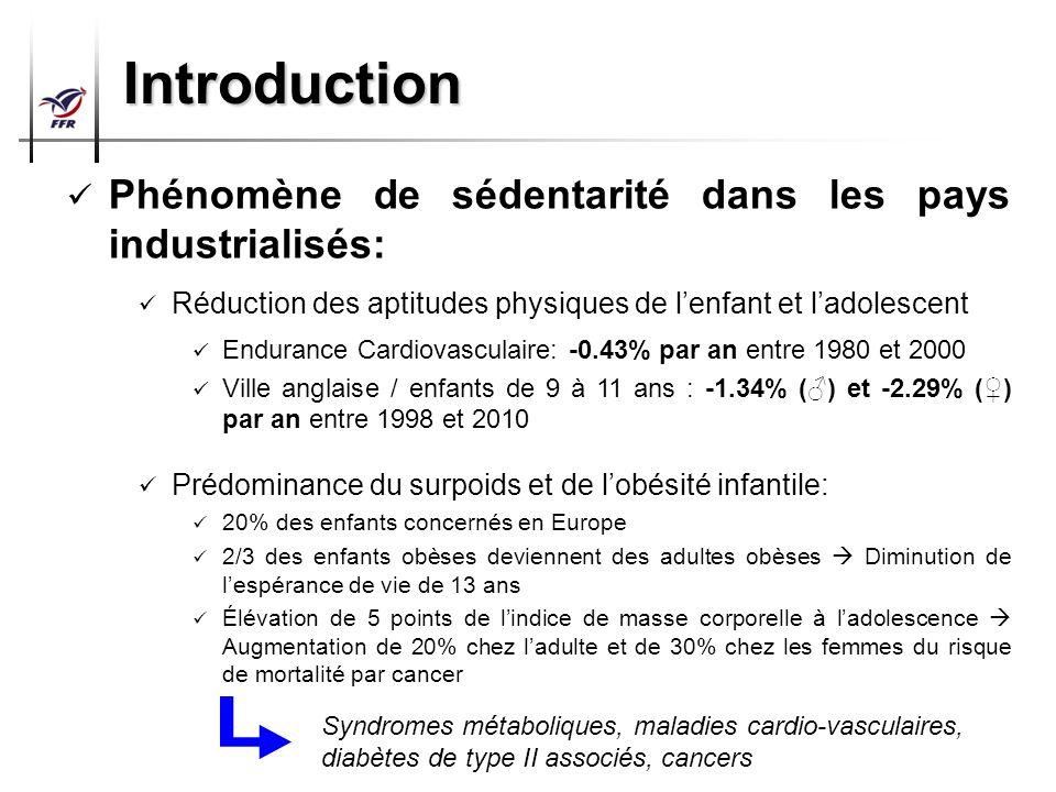 Préparation Physique Arbitres Top 14 – Pro D2 Introduction Phénomène de sédentarité dans les pays industrialisés: Réduction des aptitudes physiques de