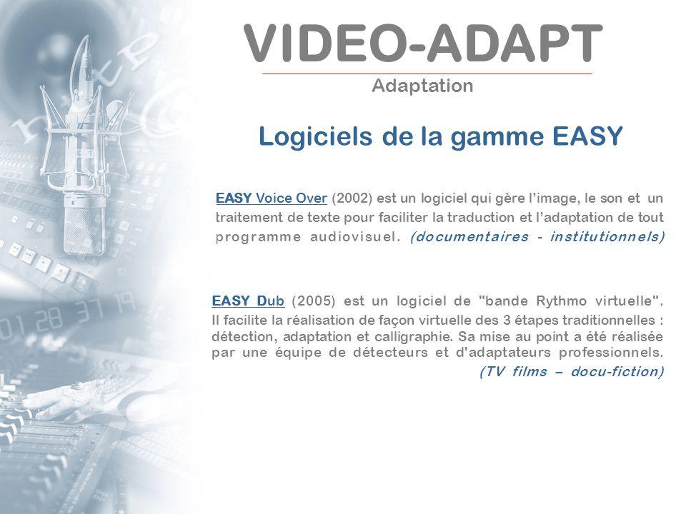 EASY Voice Over (2002) est un logiciel qui gère limage, le son et un traitement de texte pour faciliter la traduction et ladaptation de tout programme