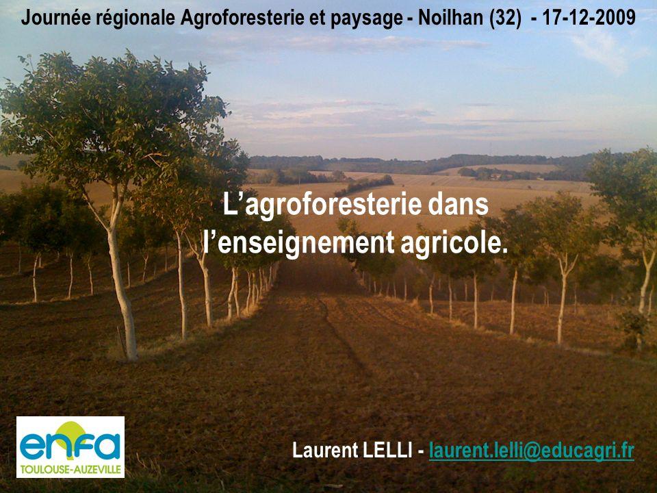 Lagroforesterie dans lenseignement agricole.