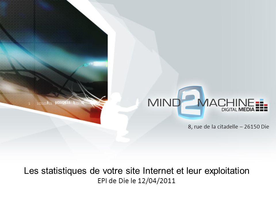 Les statistiques de votre site Internet et leur exploitation EPI de Die le 12/04/2011 8, rue de la citadelle – 26150 Die