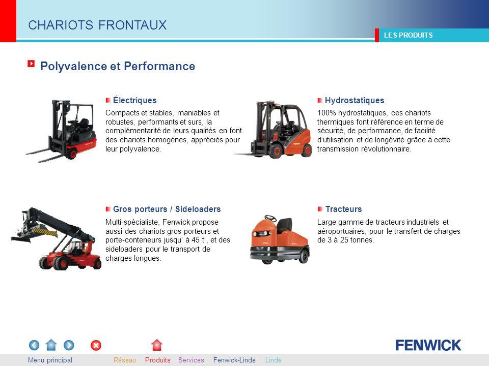 Multi-spécialiste, Fenwick propose aussi des chariots gros porteurs et porte-conteneurs jusqu à 45 t, et des sideloaders pour le transport de charges