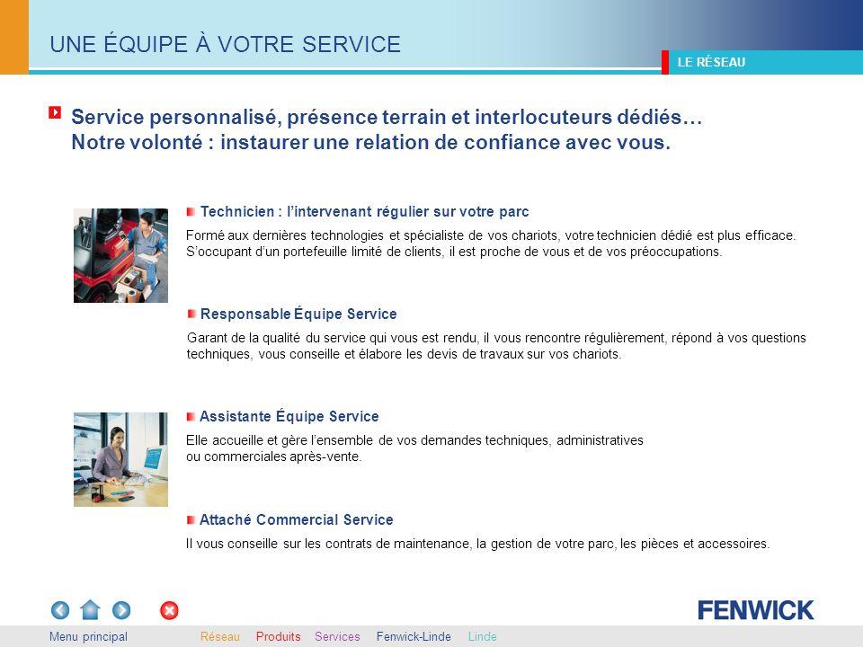 Menu principal Avec Fenwick, vous bénéficiez de lexpérience et de lexpertise du numéro un français de la manutention, tout près de chez vous.