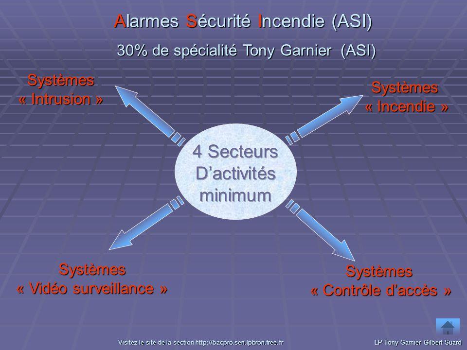 Alarmes Sécurité Incendie (ASI) Systèmes « Intrusion » Systèmes « Intrusion » Systèmes « Contrôle daccès » Systèmes « Contrôle daccès » Systèmes « Inc