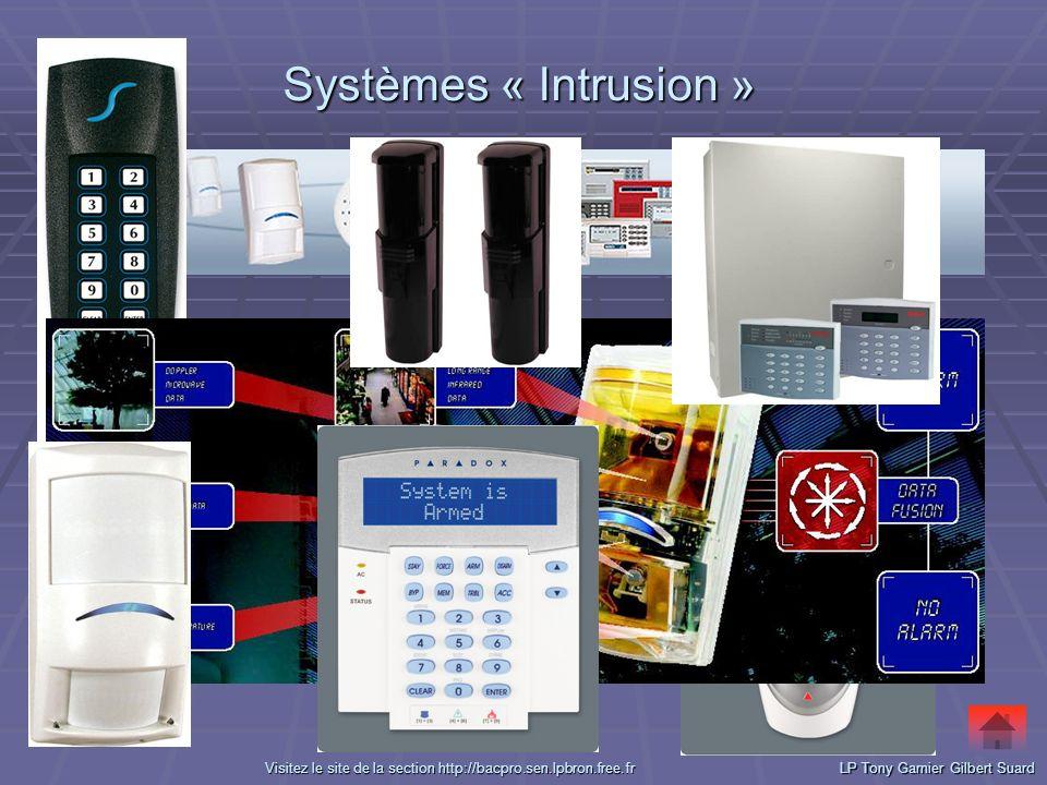 Systèmes « Intrusion » Systèmes « Intrusion »LP Tony Garnier Gilbert Suard VVVV iiii ssss iiii tttt eeee zzzz l l l l eeee s s s s iiii tttt eeee d d