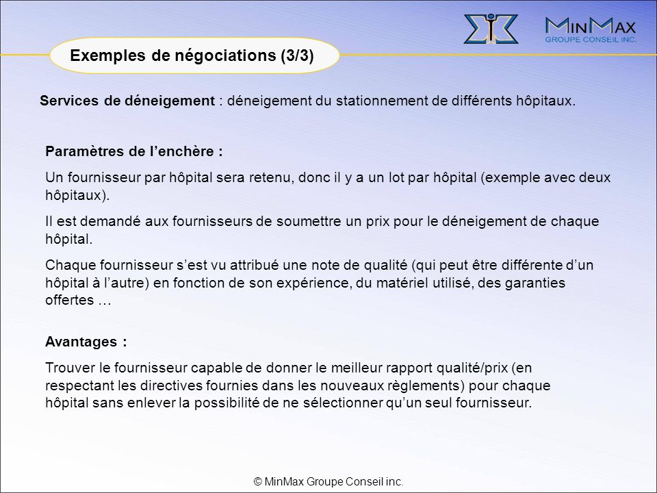 © MinMax Groupe Conseil inc.