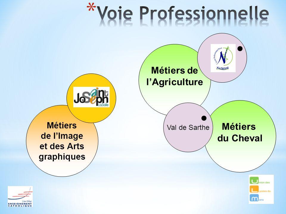 Métiers de lAgriculture Métiers de lImage et des Arts graphiques Métiers du Cheval Val de Sarthe