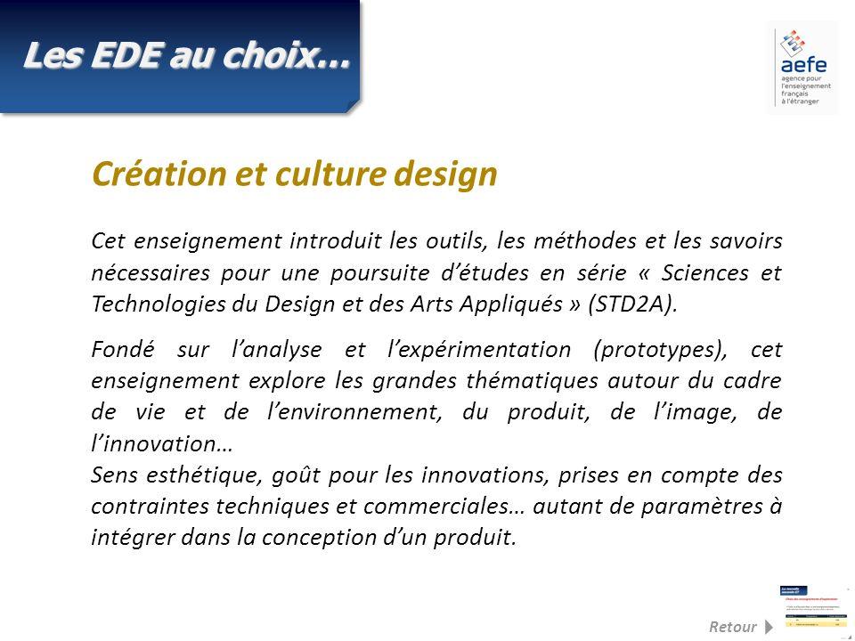 Cet enseignement introduit les outils, les méthodes et les savoirs nécessaires pour une poursuite détudes en série « Sciences et Technologies du Design et des Arts Appliqués » (STD2A).