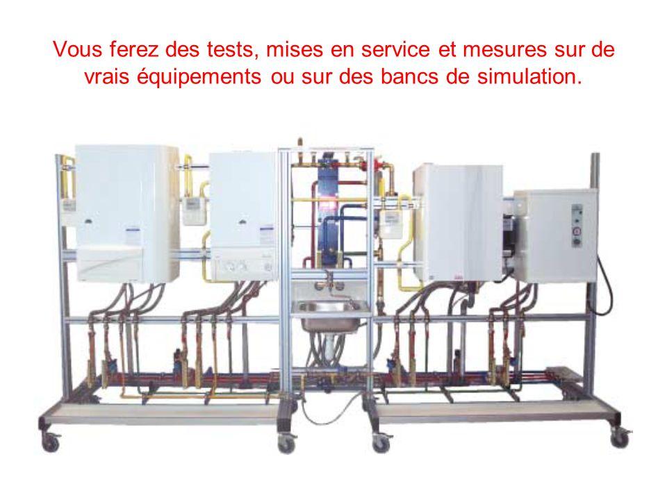 Vous ferez des tests, mises en service et mesures sur de vrais équipements ou sur des bancs de simulation.