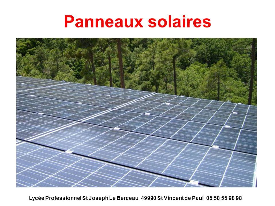 Panneaux solaires Lycée Professionnel St Joseph Le Berceau 49990 St Vincent de Paul 05 58 55 98 98