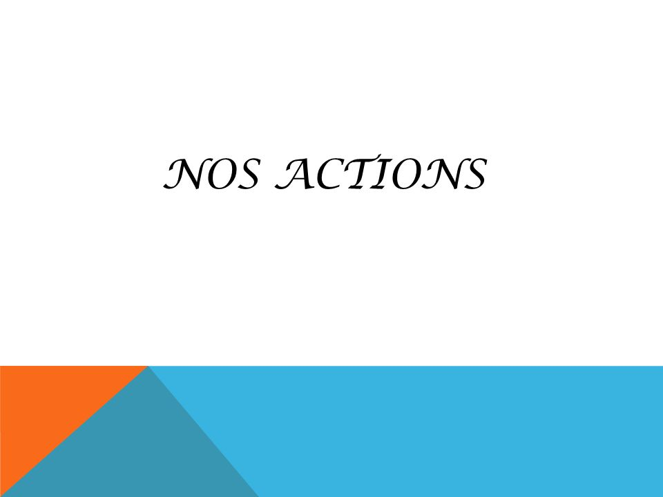 NOS ACTIONS