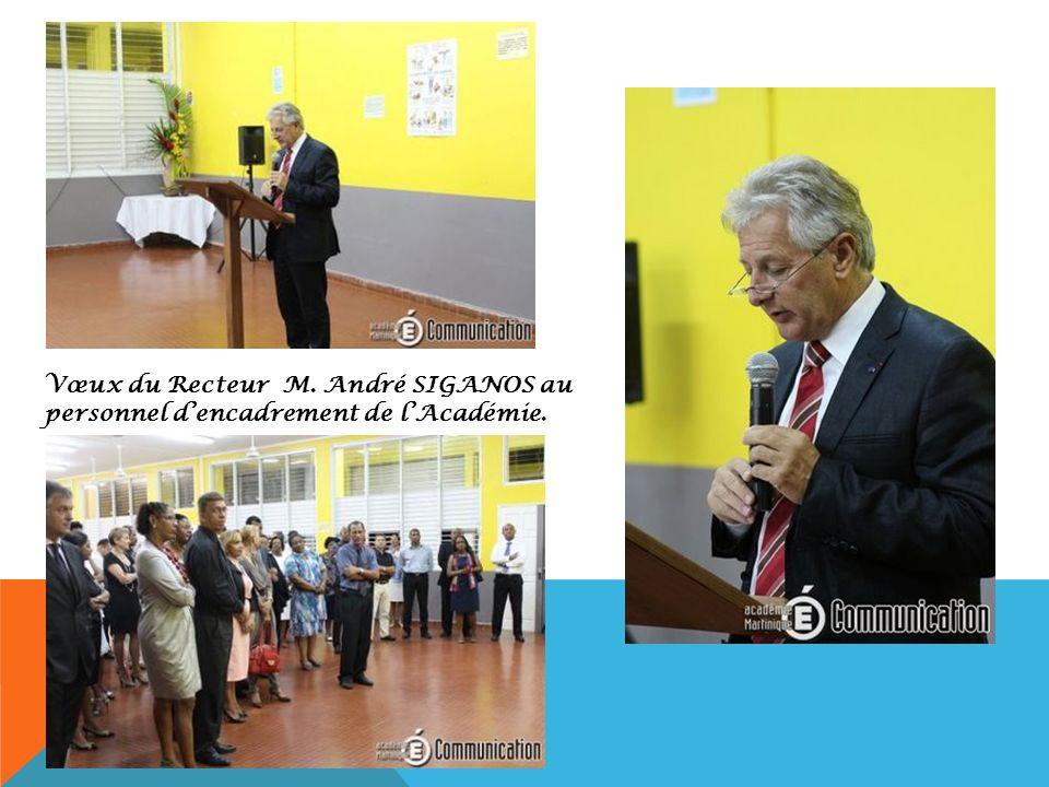 Vœux du Recteur M. André SIGANOS au personnel dencadrement de lAcadémie.
