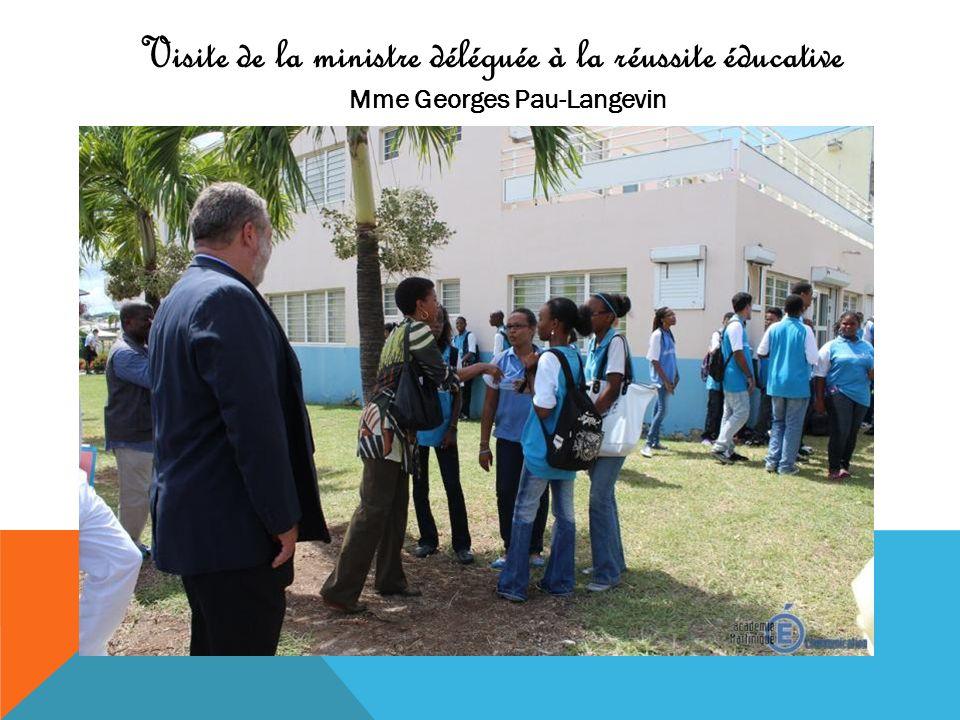 Visite de la ministre déléguée à la réussite éducative Mme Georges Pau-Langevin