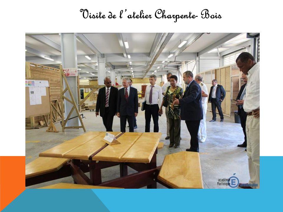 Visite de latelier Charpente- Bois