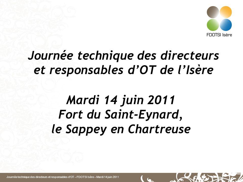 Journée technique des directeurs et responsables dOT – FDOTSI Isère – Mardi 14 juin 2011 Journée technique des directeurs et responsables dOT de lIsèr